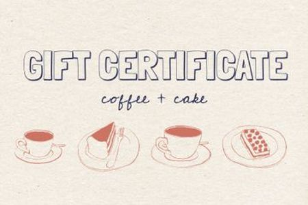Modèle de visuel Cafe offer with Coffee and Cake - Gift Certificate