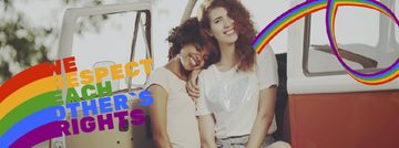 Pride Month Celebration Two Smiling Girls