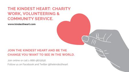 Template di design Charity event Hand holding Heart in Red Title