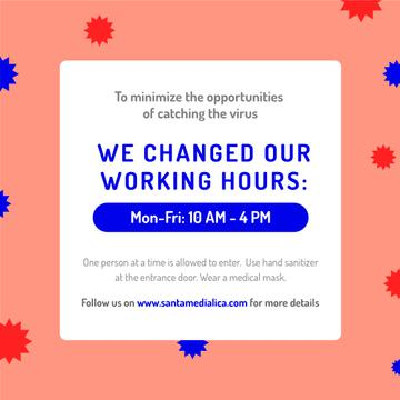 Working Hours Rescheduling during quarantine notice