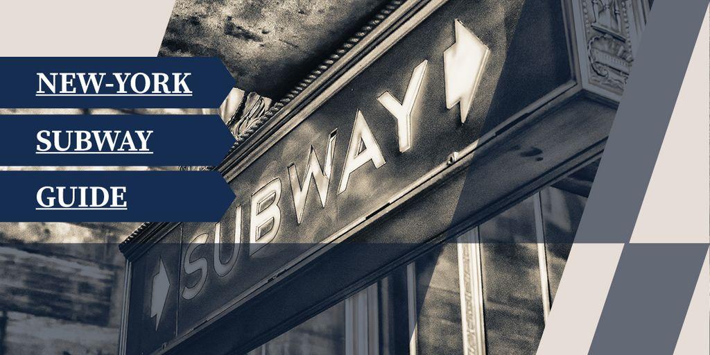 New York subway guide poster — Crear un diseño