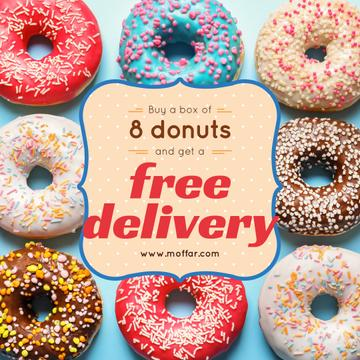 Donut Day Delivery Offer with Delicious glazed donuts