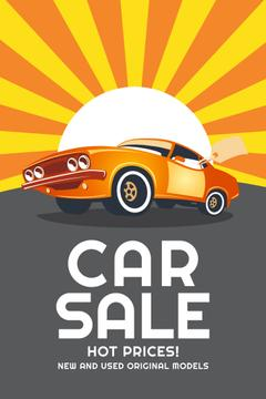 Car Sale Advertisement Muscle Car in Orange | Pinterest Template