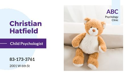 Ontwerpsjabloon van Business card van Teddy bear toy