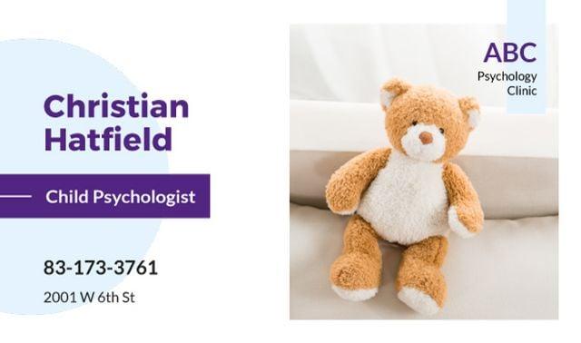 Teddy bear toy Business card Tasarım Şablonu
