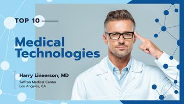 Modern Medical Technologies Doctor in Glasses | Youtube Thumbnail Template