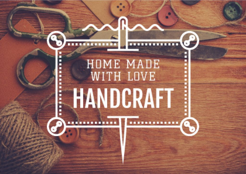 Handcrafted Goods Store Ad | Postcard Template — Crear un diseño
