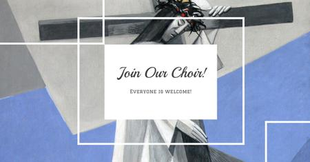 Ontwerpsjabloon van Facebook AD van Invitation to Church Choir