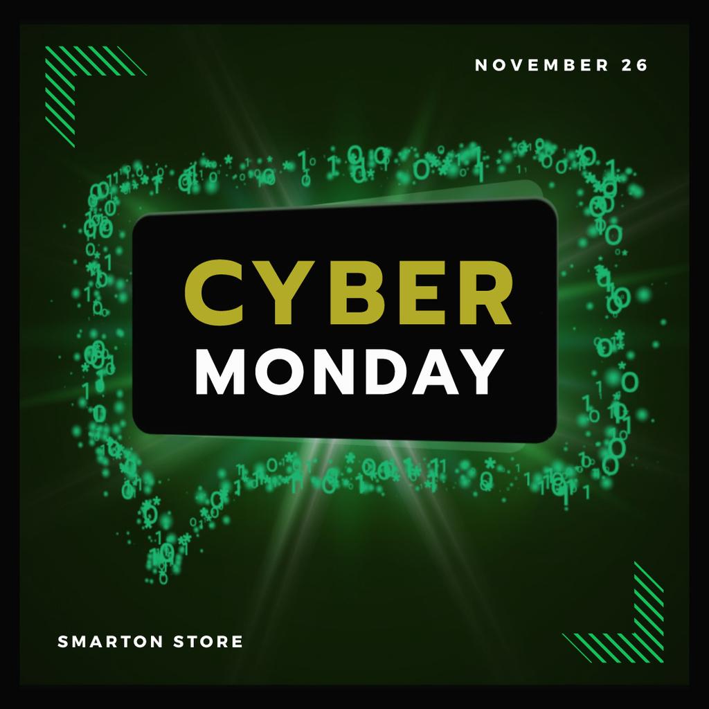 Cyber Monday in Message bubble frame — ein Design erstellen