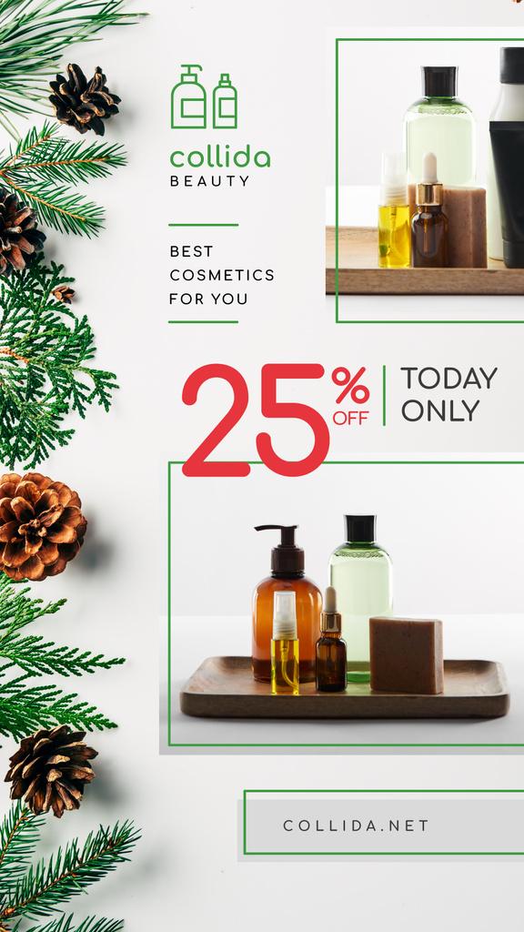 Cosmetics Ad Skincare Products Bottles — Создать дизайн