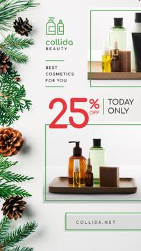 Cosmetics Ad Skincare Products Bottles