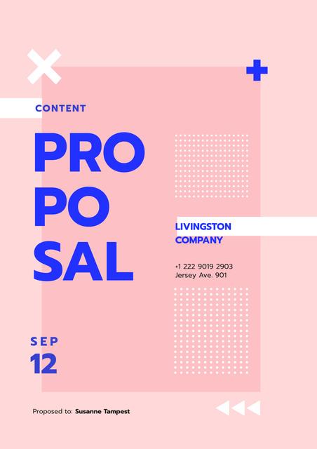 Creative agency services in pink Proposal – шаблон для дизайну