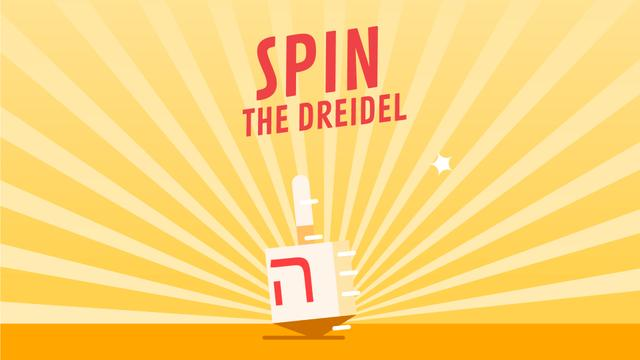 Modèle de visuel Spinning dreidel on Hanukkah  - Full HD video