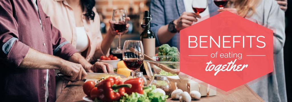 Ontwerpsjabloon van Tumblr van People Eating Dinner Together