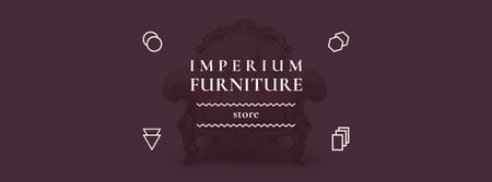 Ontwerpsjabloon van Facebook cover van Antique Furniture Ad Luxury Armchair