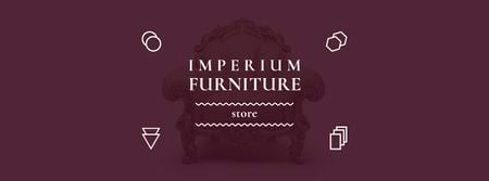 Antique Furniture Ad Luxury Armchair Facebook coverデザインテンプレート