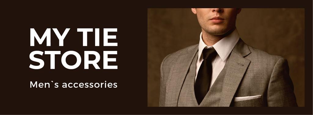 Handsome Man in Suit and Tie — ein Design erstellen
