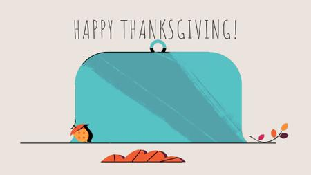 Designvorlage Thanksgiving turkey on plate für Full HD video