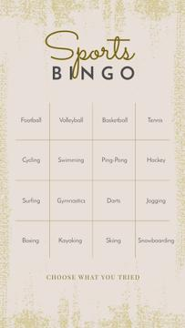 Sports Bingo check list