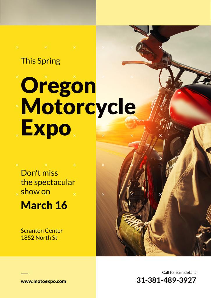 Oregon motorcycle exhibition poster — ein Design erstellen
