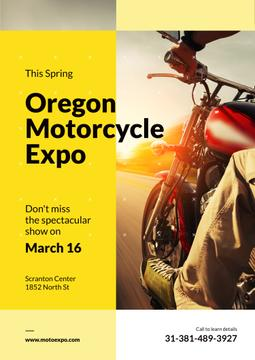 Oregon motorcycle exhibition poster