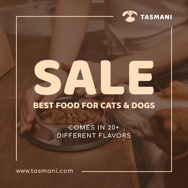 Pet Nutrition Offer Dog Eating Its Food  Instagram AD – шаблон для дизайну