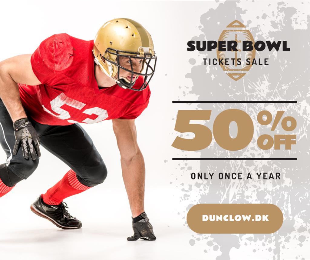 Super Bowl Match Offer Player in Uniform — Crear un diseño