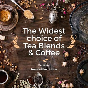 advertisement poster for coffee and tea online store