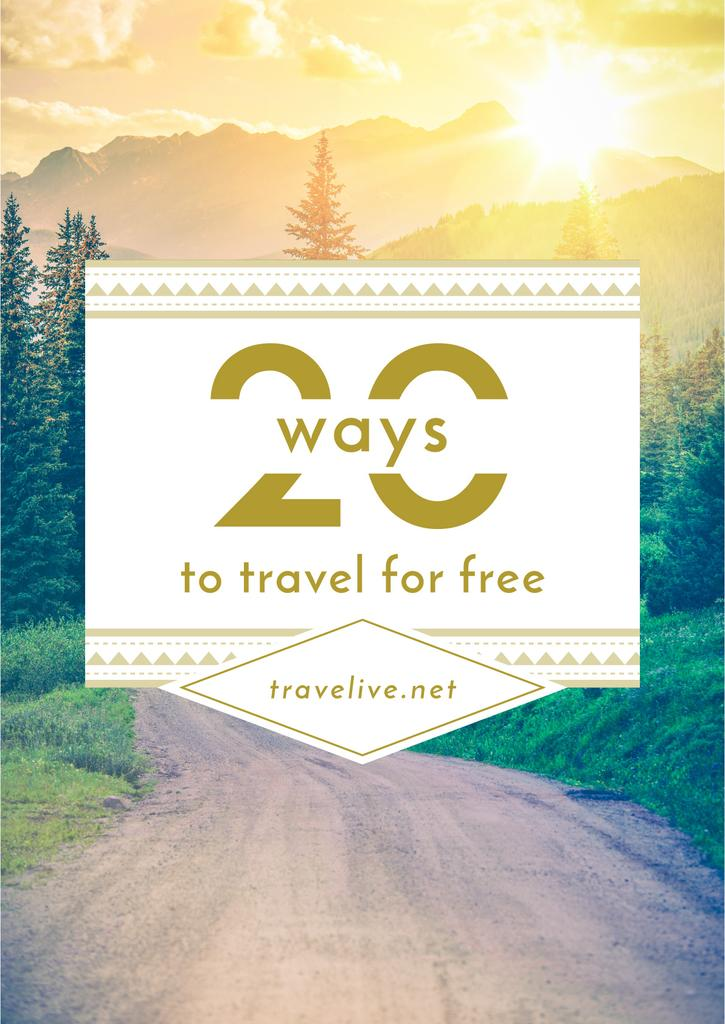 Travel Tips Forest Road View — Maak een ontwerp