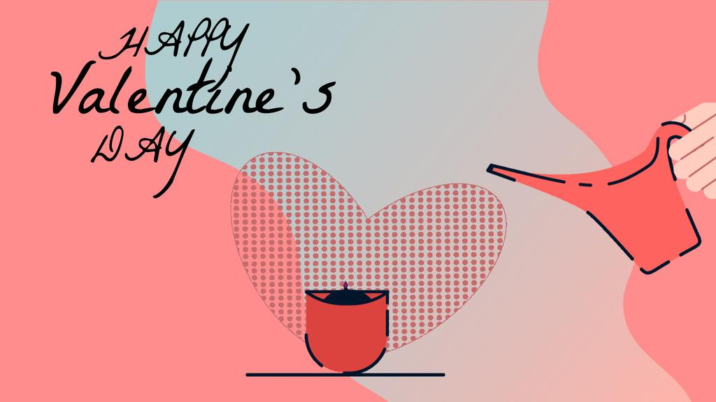 Planting love flower on Valentine's Day — Maak een ontwerp