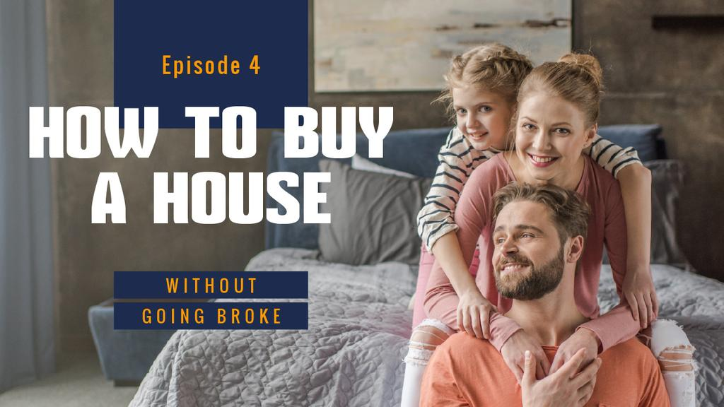 Real Estate Ad Parents with Daughter at Home — Create a Design