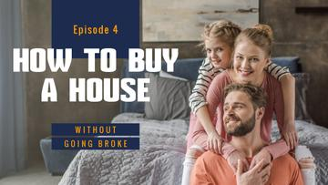 Real Estate Ad Parents with Daughter at Home