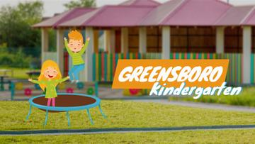 Kindergarten Ad Children Jumping on Trampoline | Full Hd Video Template