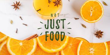 Fresh oranges and spices drink