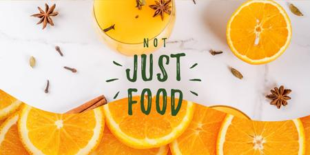 Fresh oranges and spices drink Image Modelo de Design