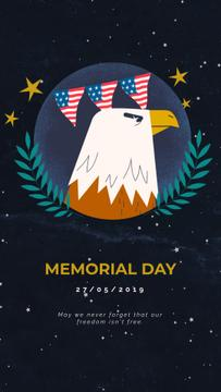 USA Memorial Day Bald Eagle | Vertical Video Template