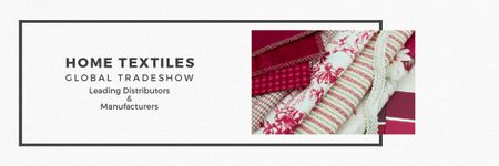 Home Textiles Event Announcement in Red Email headerデザインテンプレート