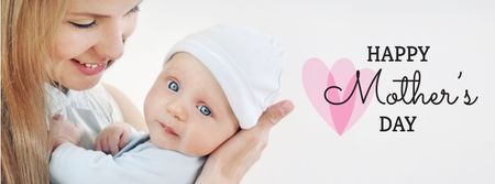 Plantilla de diseño de Mother with Child on Mother's Day Facebook cover