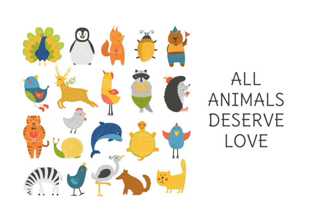 Animal Rights Concept Animals Icon — Create a Design