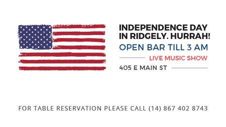 Modèle de visuel Independence Day Invitation USA Flag on White - Title