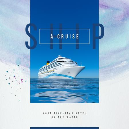 Ontwerpsjabloon van Instagram AD van Cruise ship in sea view
