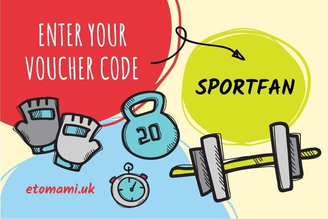 Sports equipment and weights Gift Certificate Design Template