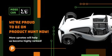 Product Hunt Launch Ad Sports Car | Twitter Post Template