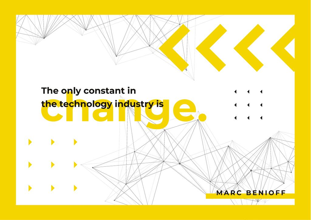 Minimalistic geometric pattern with Technology Quote — Maak een ontwerp