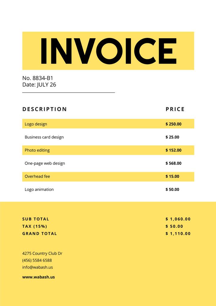 Design Services on Yellow — Создать дизайн