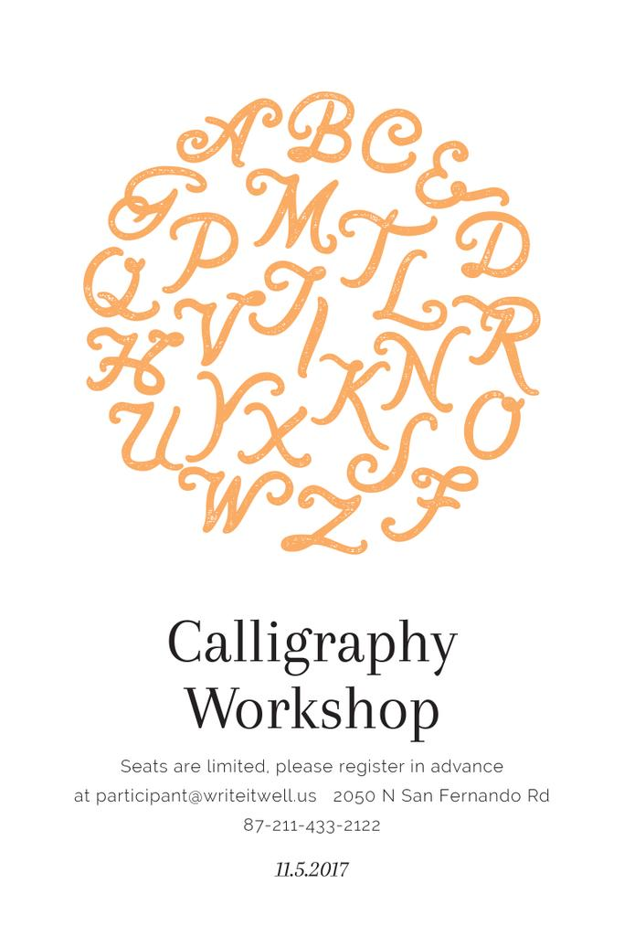 Calligraphy workshop Announcement — Créer un visuel
