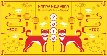 Chinese new year discount card