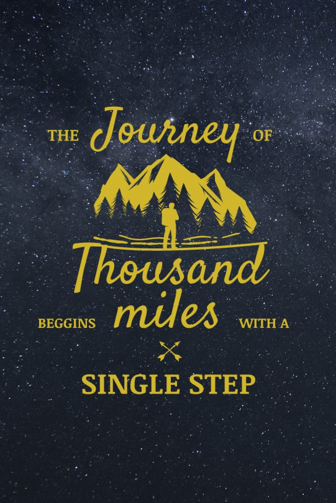 Journey Motivational Quote Tumblr Graphic 540x810px Template