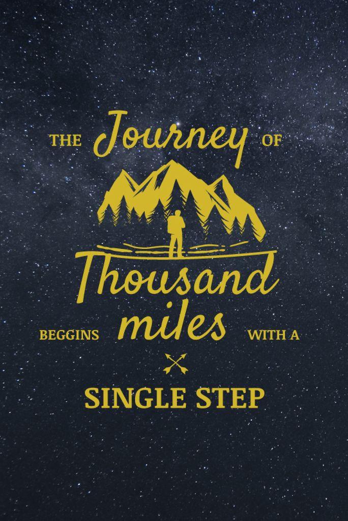 Journey Offer Traveler in Mountains Icon — Modelo de projeto