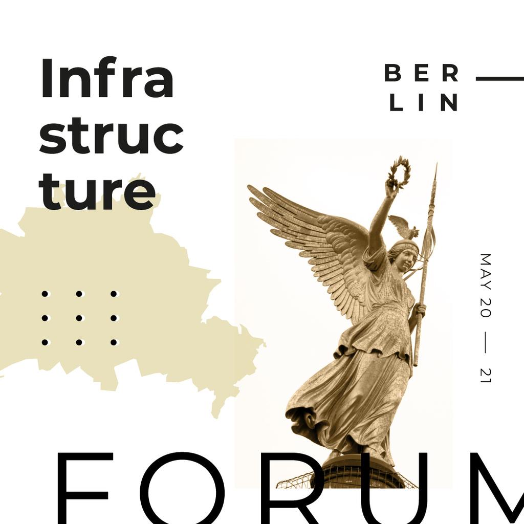 Designvorlage Berlin Victory Column for urban forum für Instagram AD